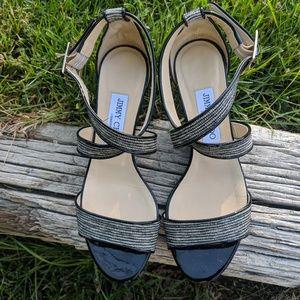 Jimmy Choo Black Strappy Sandals